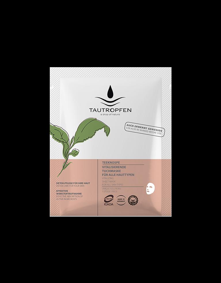 Tautropfen Naturkosmetik Maske Gruener Tee